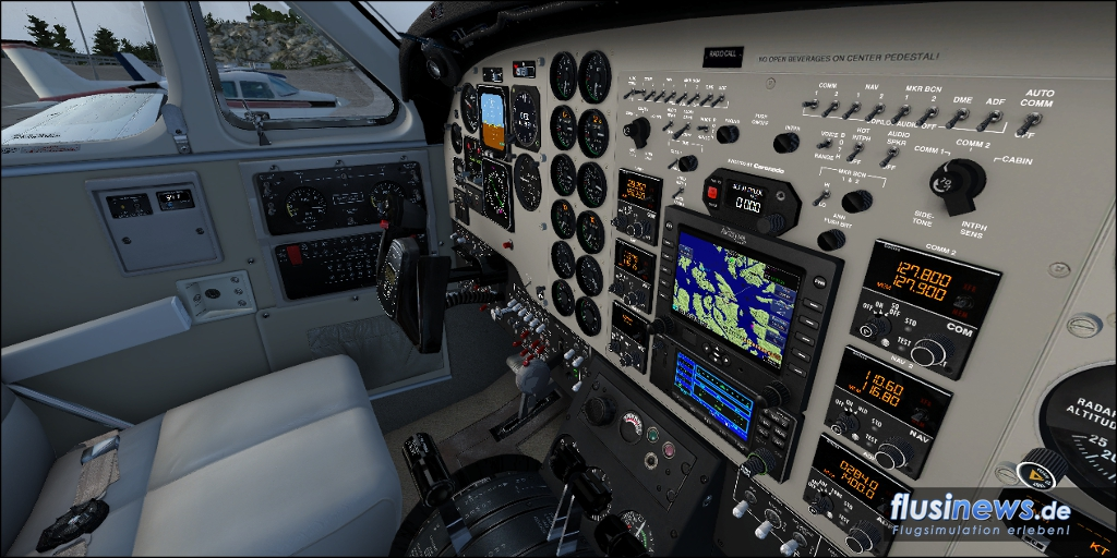 Carenado C90B King Air Review Bild 09