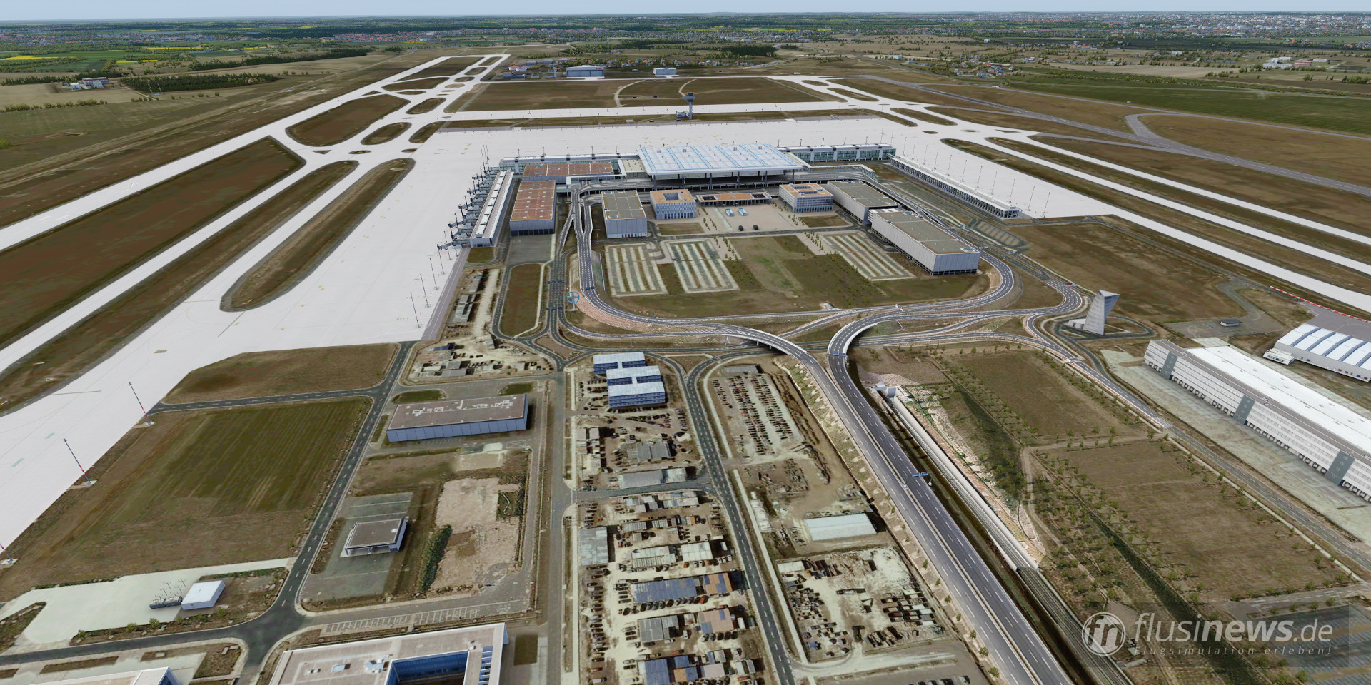 Aerosoft Mega Airport Berlin-Brandenburg professional fnDE Review 22