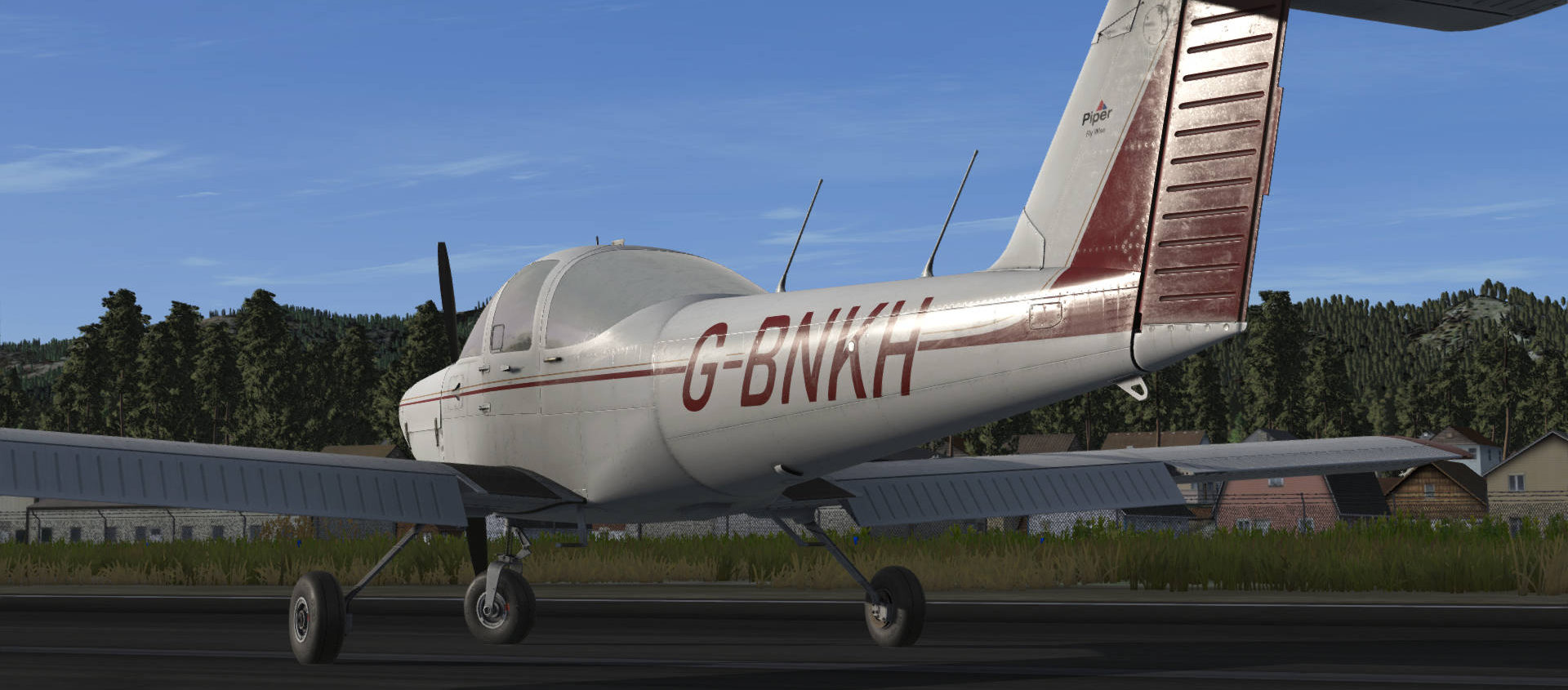 Just Flight Piper PA-38 Tomahawk WIP